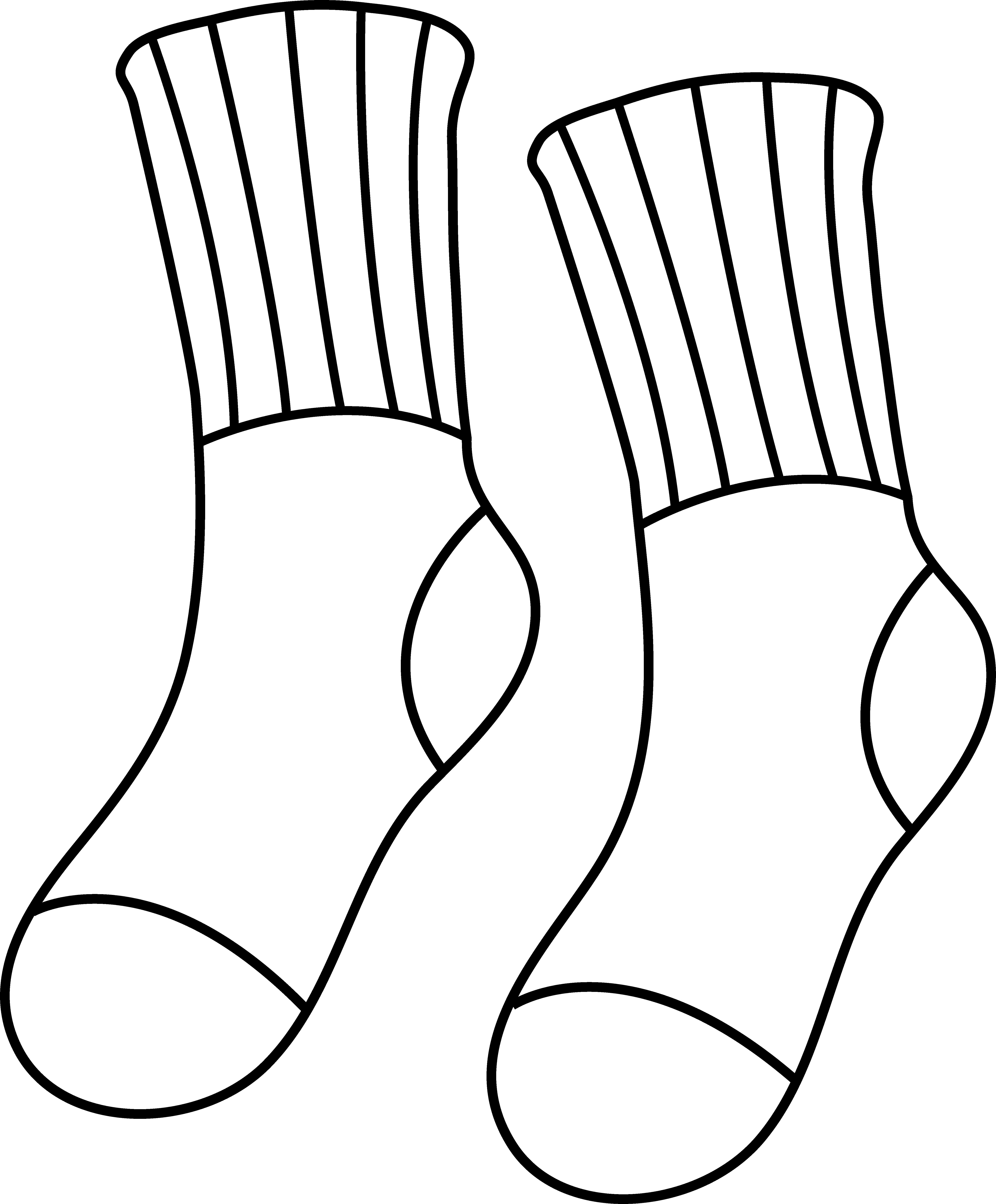 Baseball sock outline . Learning clipart principled