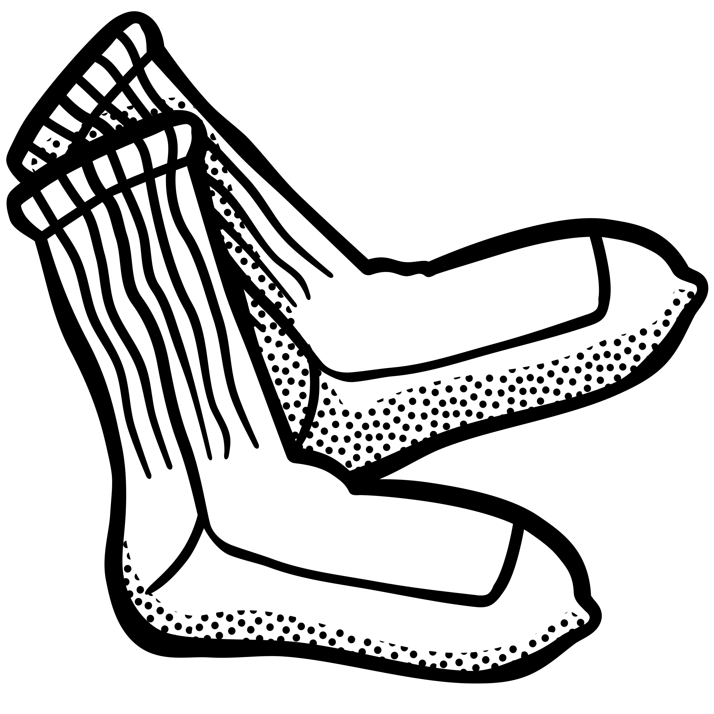 Mlk clipart black and white. Socks drawing at getdrawings