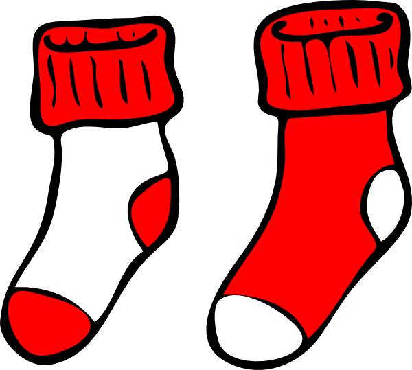 Red and clip art. White clipart socks