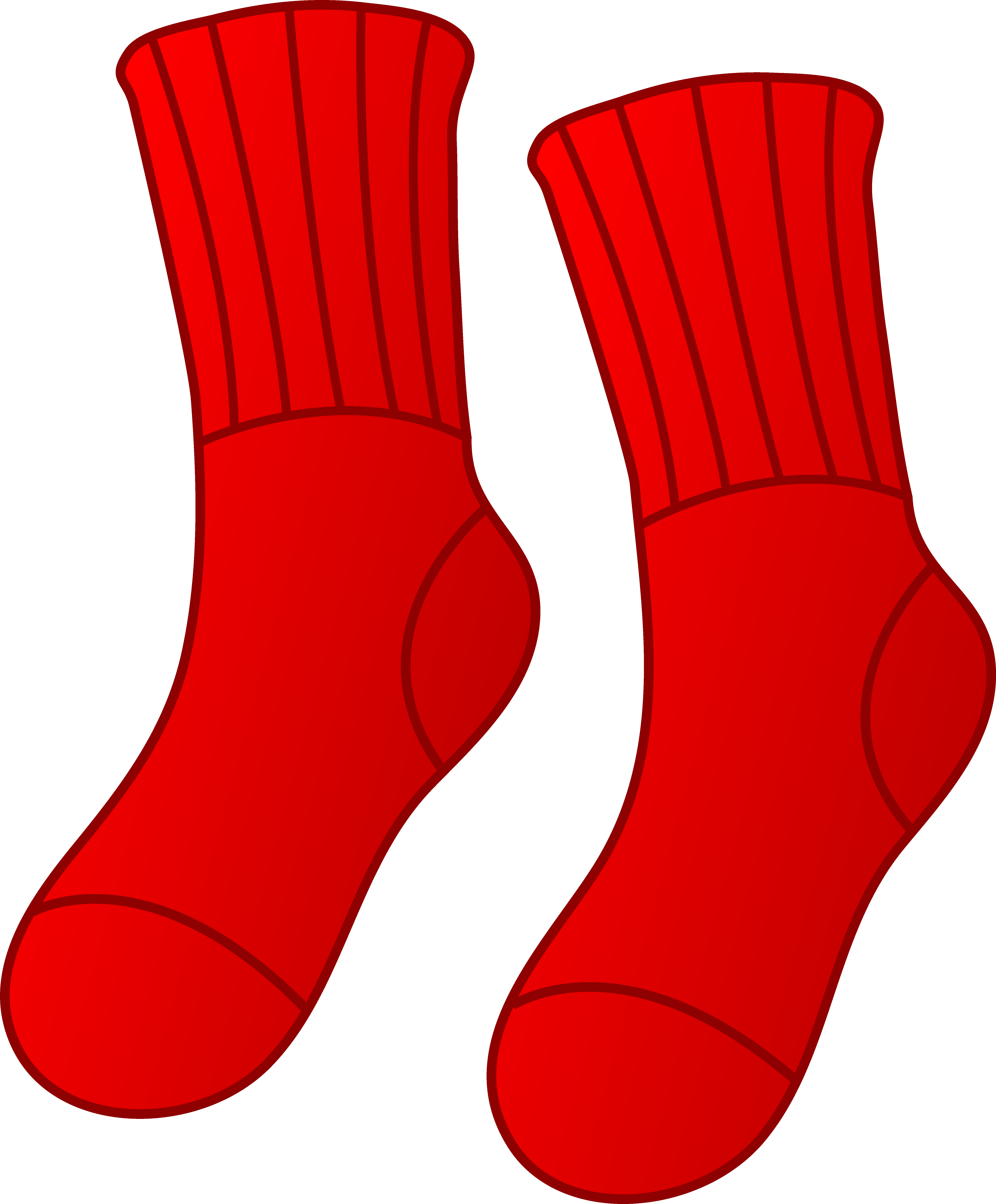 Pair of red socks. Wet clipart clip art