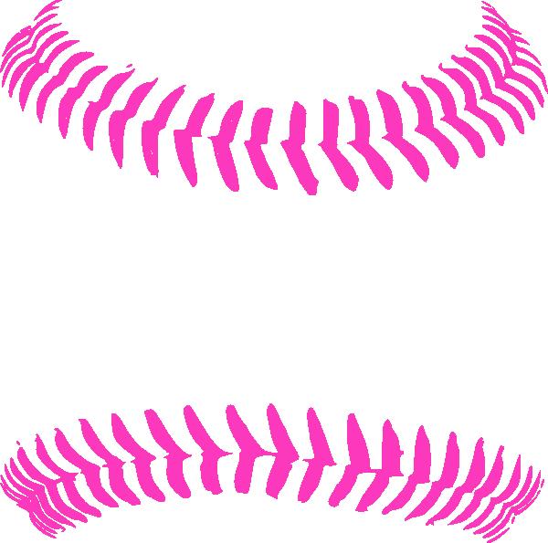 Bright pink baseball stitching. Eyelash clipart cute
