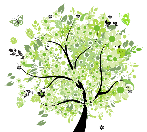 Green spring tree png. Mango clipart four