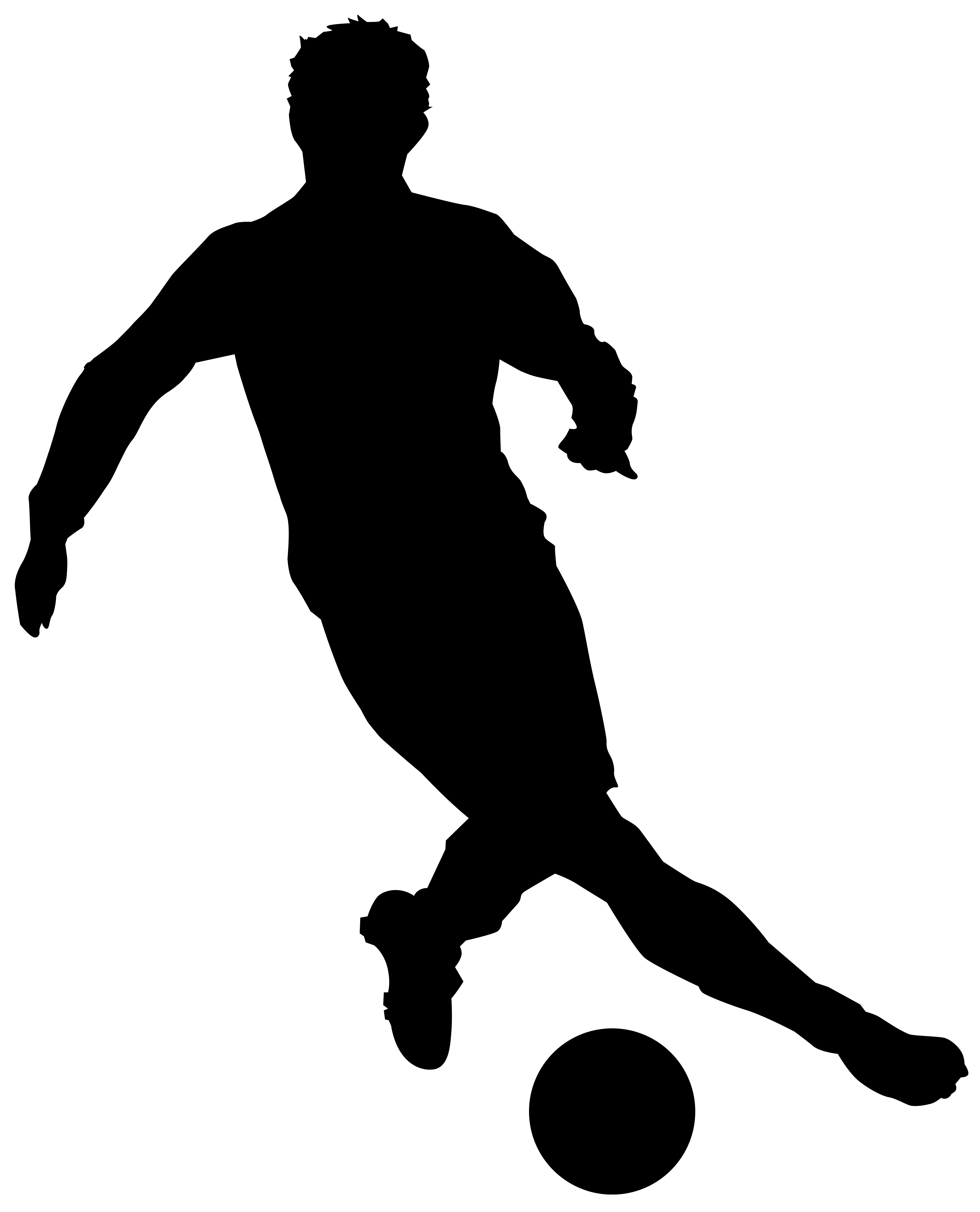 Clipart football man. Player silhouette clip art