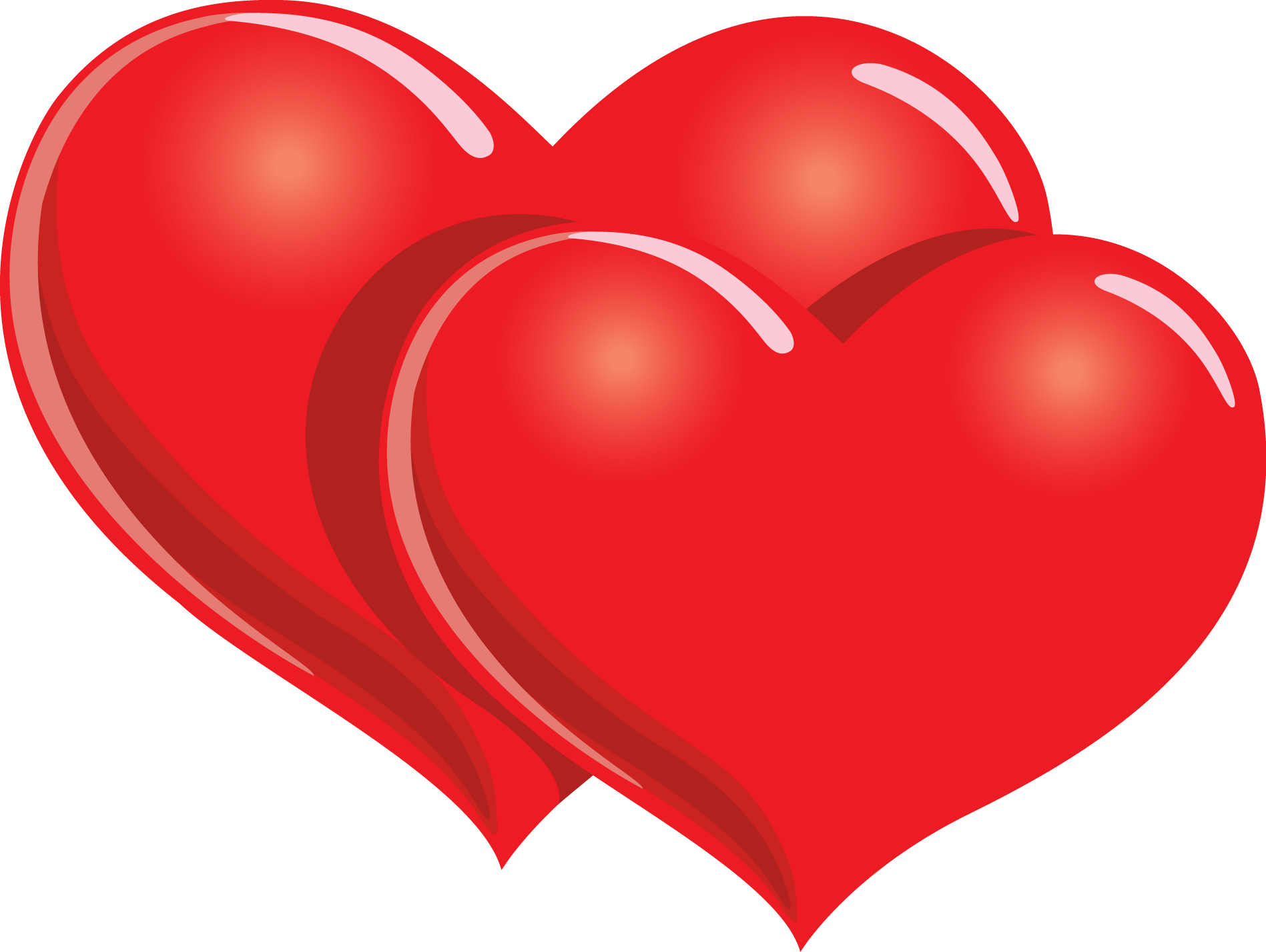 Hearts clipart sign.  red heart symbol