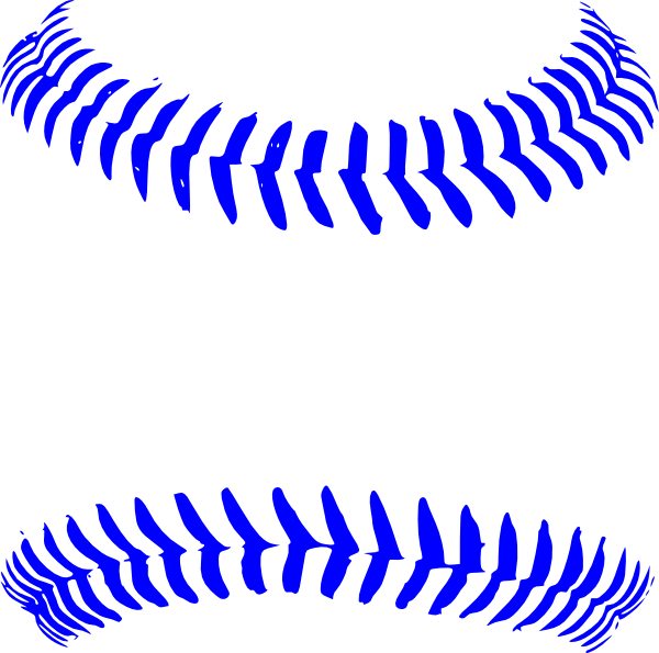 Stitch clipart blue. Baseball clip art at