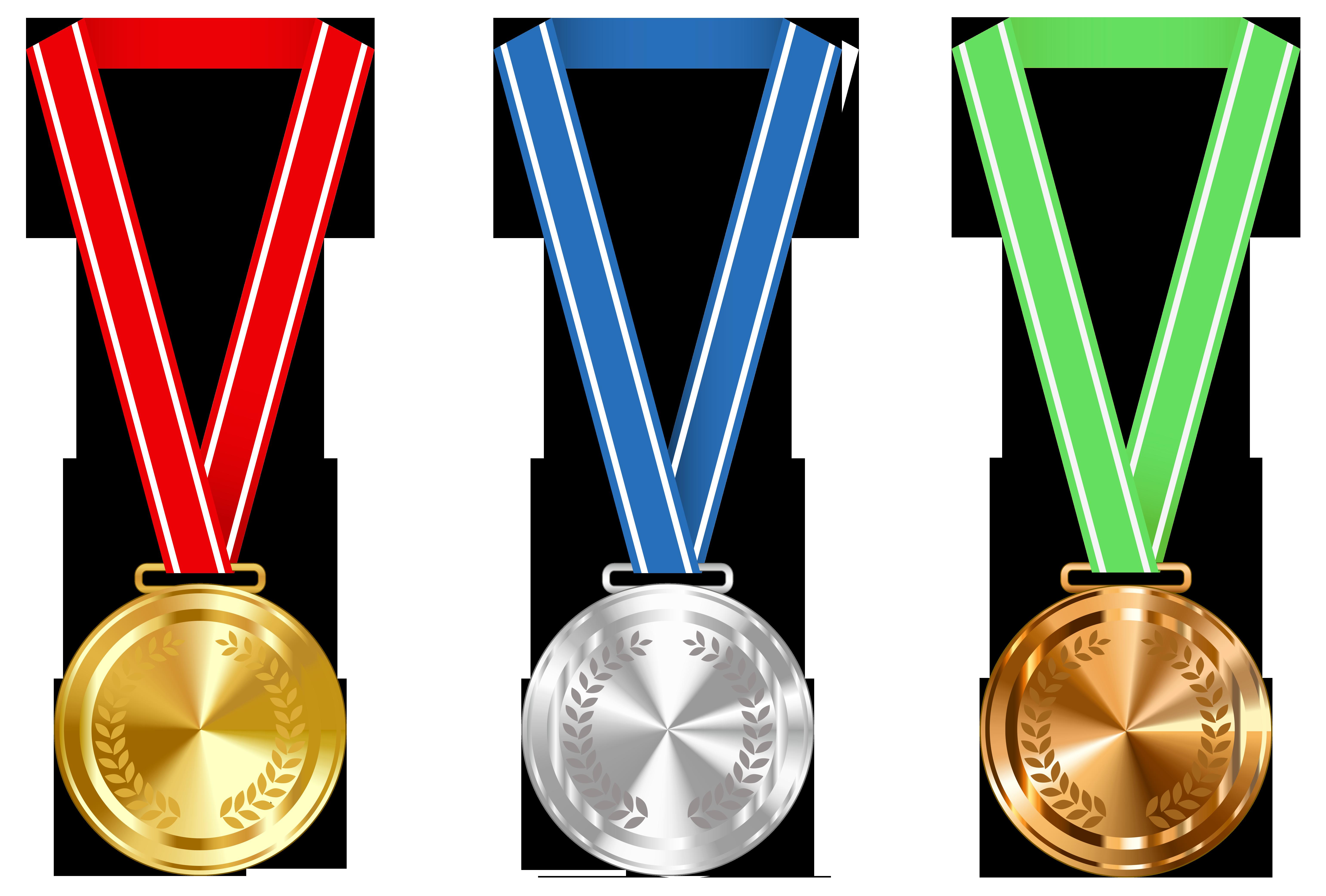 Gold silver and bronze. Future clipart award