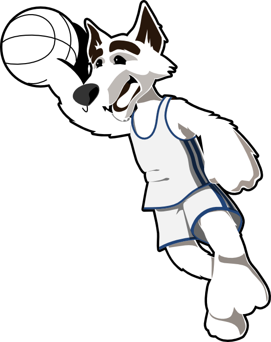 Wolves clipart basketball.  collection of goal