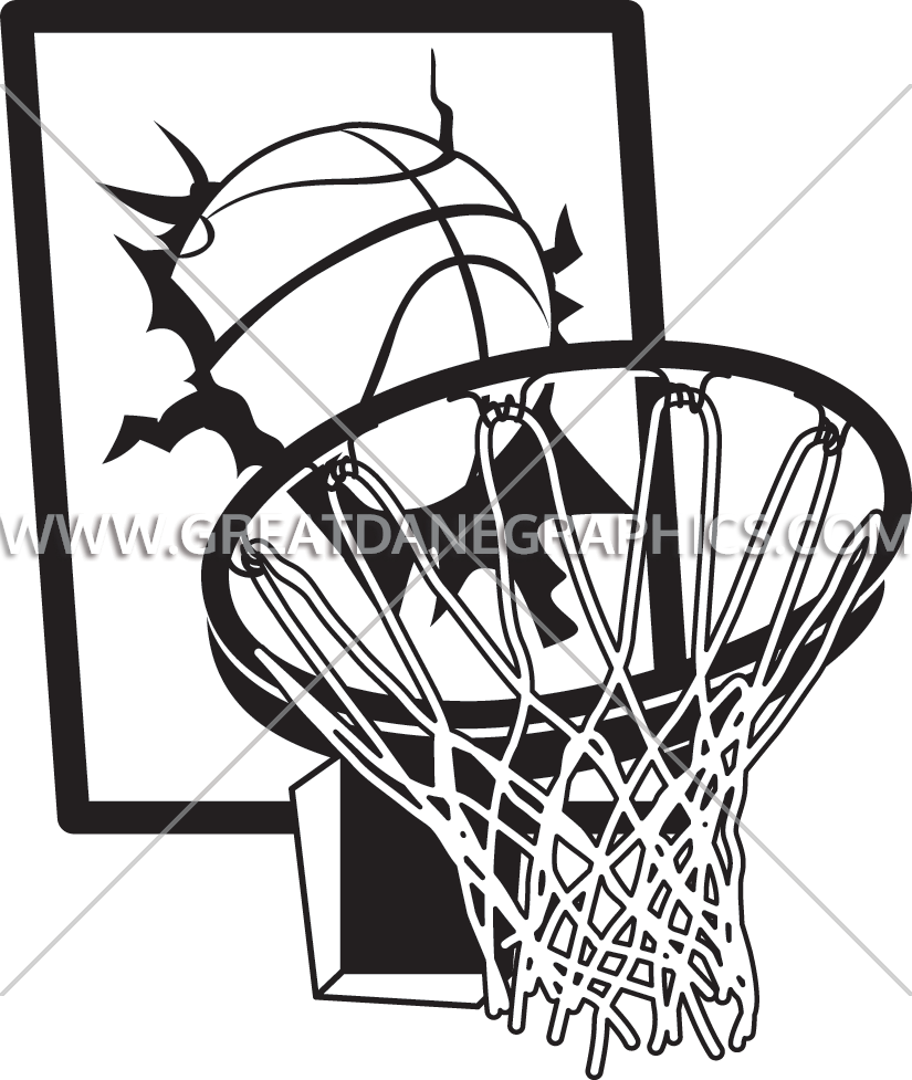 Basketball hoop drawing at. Net clipart basket ball