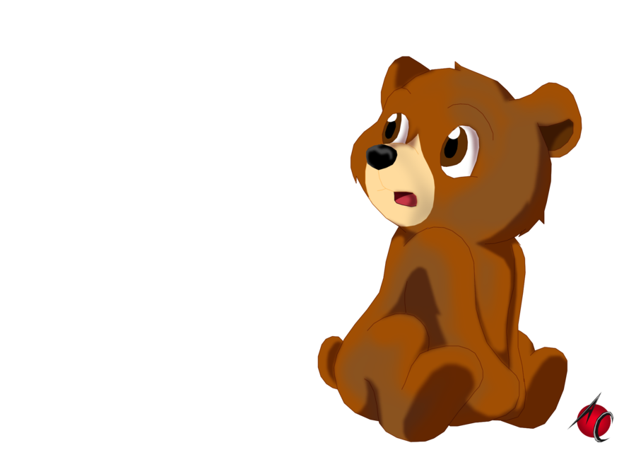 Sad pencil and in. Clipart bear bear cub