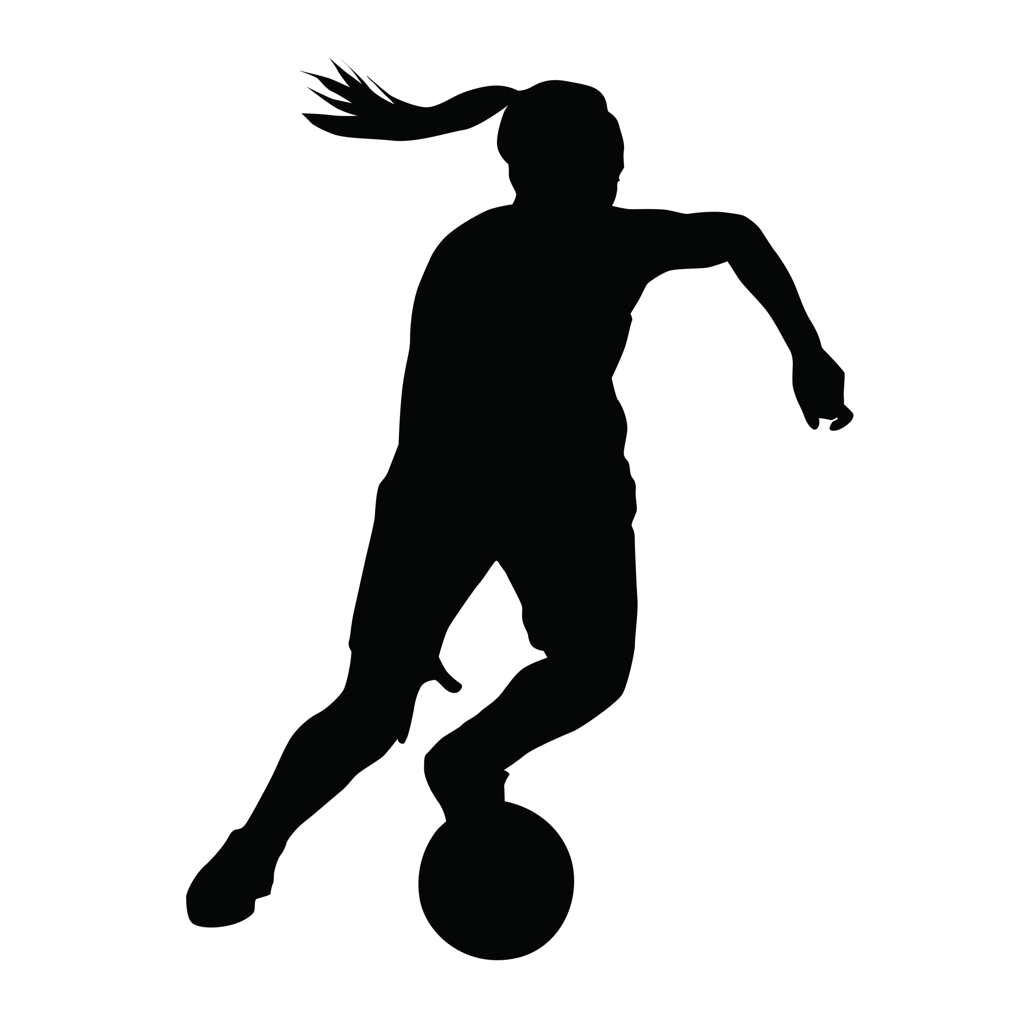 Girls clipart basketball player. Silhouette at getdrawings com