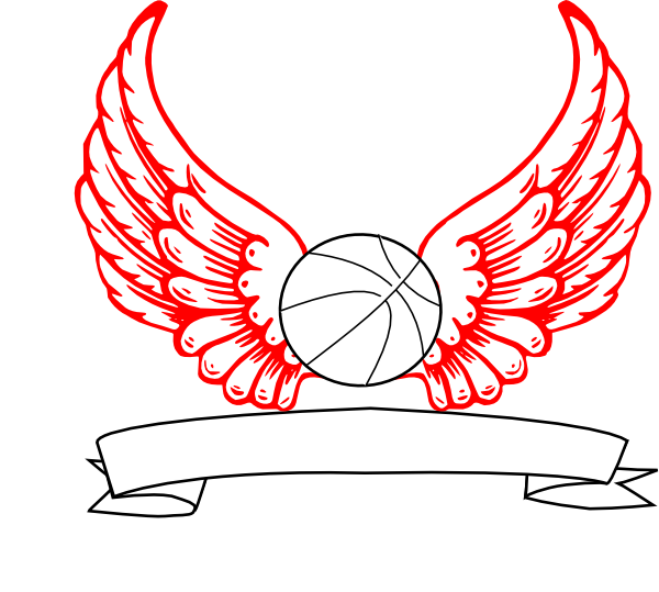 Wing clipart vector. Basketball angel wings clip