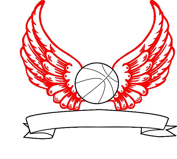 Angel wings vector png. Basketball clip art at