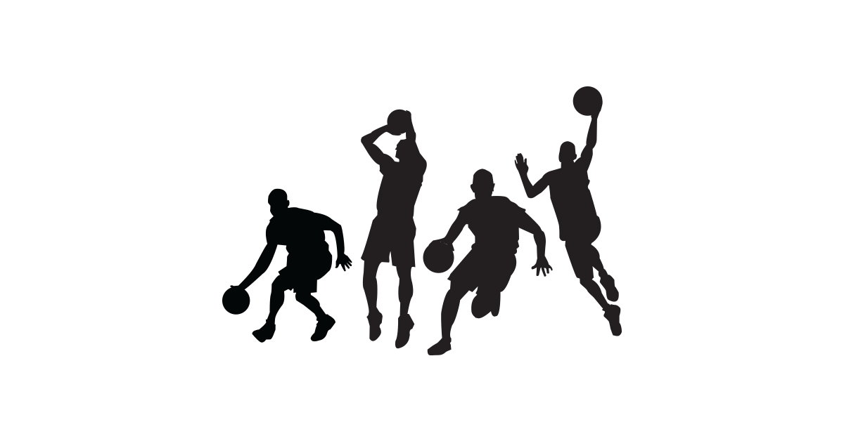 Female clipart badminton player. Girl playing basketball silhouette