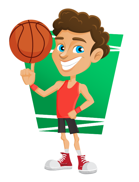 collection of png. Clipart boy basketball player