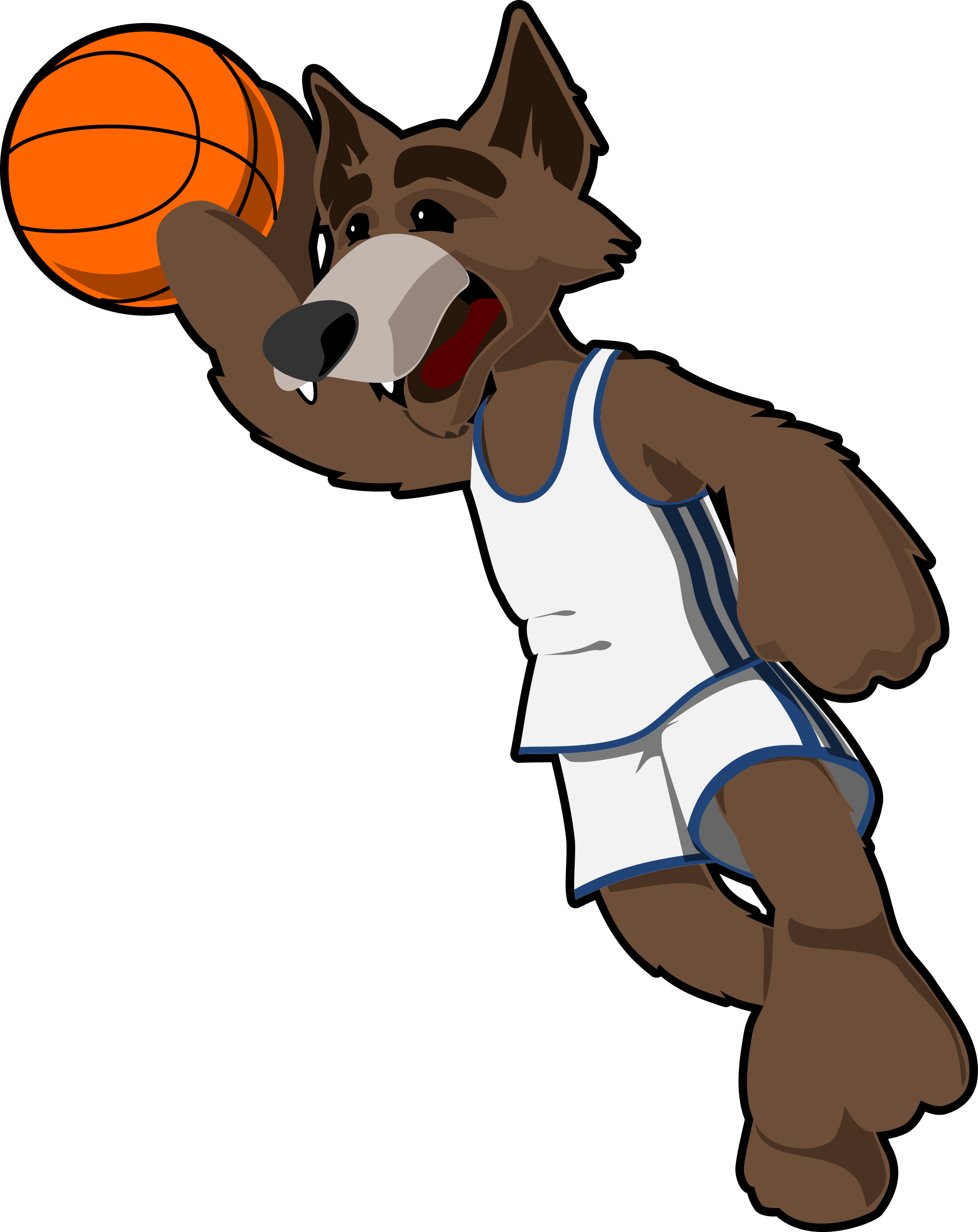 Basketball wolf big image. Wolves clipart cartoon