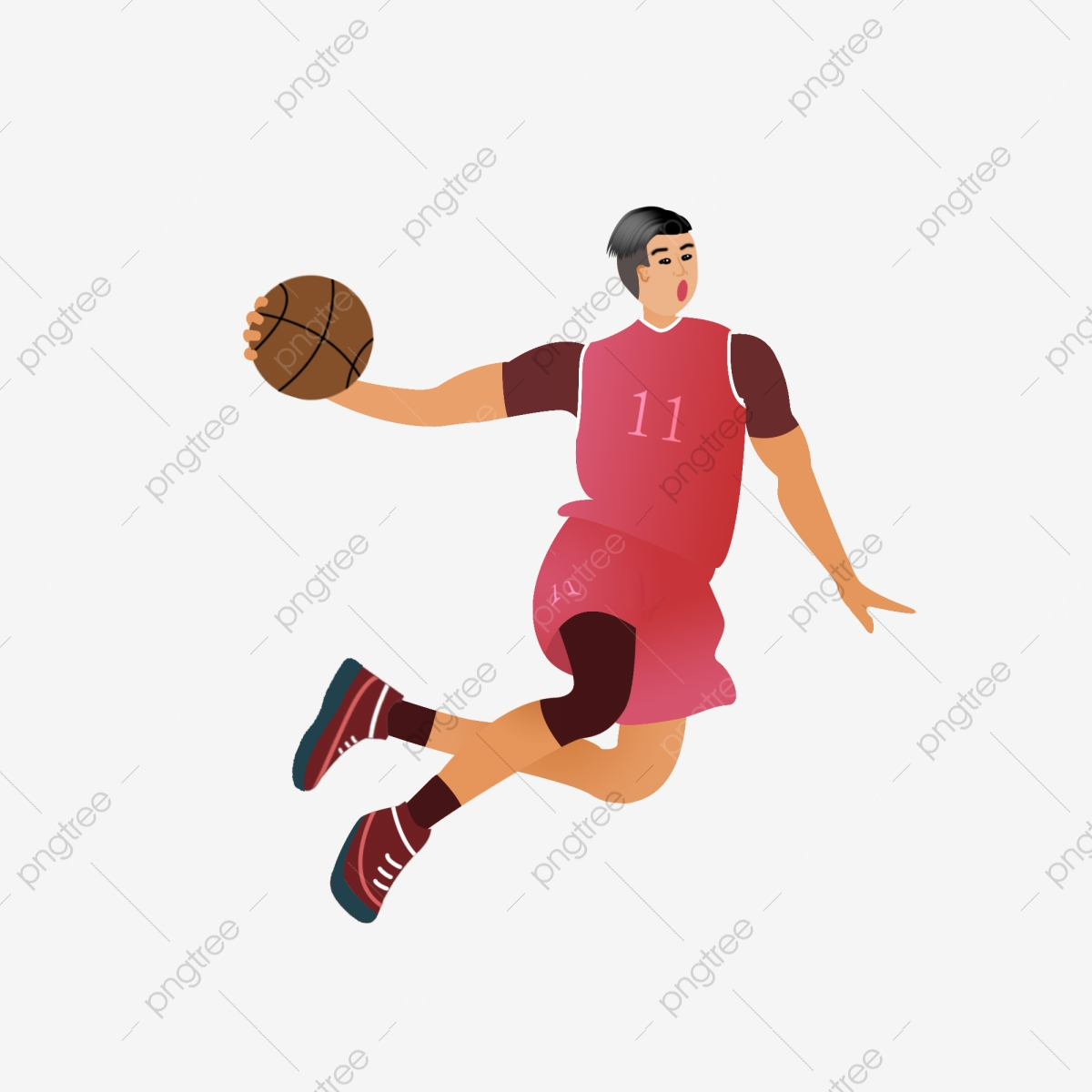 Player high definition deduction. Clipart basketball character