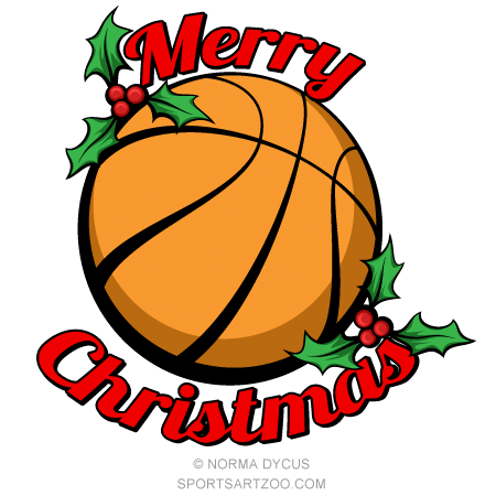 Clipart basketball christmas. Merry