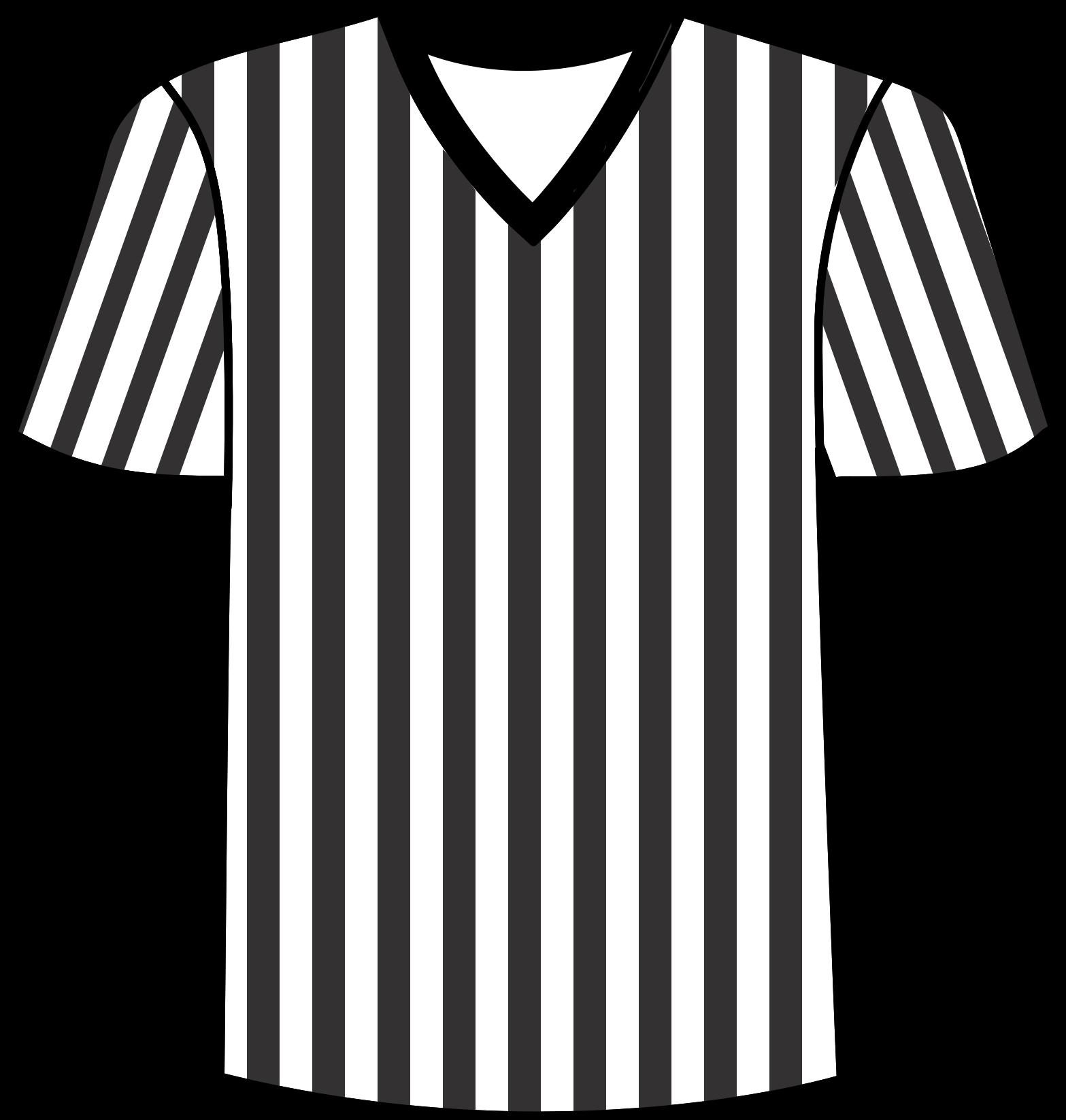 Football referee big image. Clipart shirt uniform