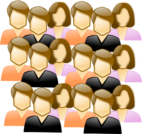 People clipart crowd. Clip art free images