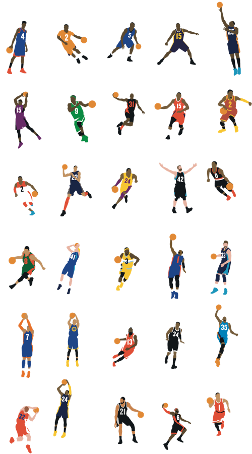 Nba players i recognize. Jersey clipart crowd