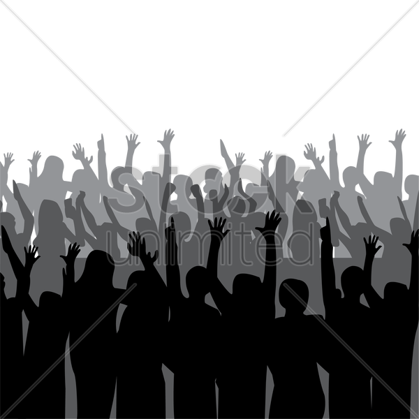 Fan clipart audience. Crowd cheer graphics illustrations