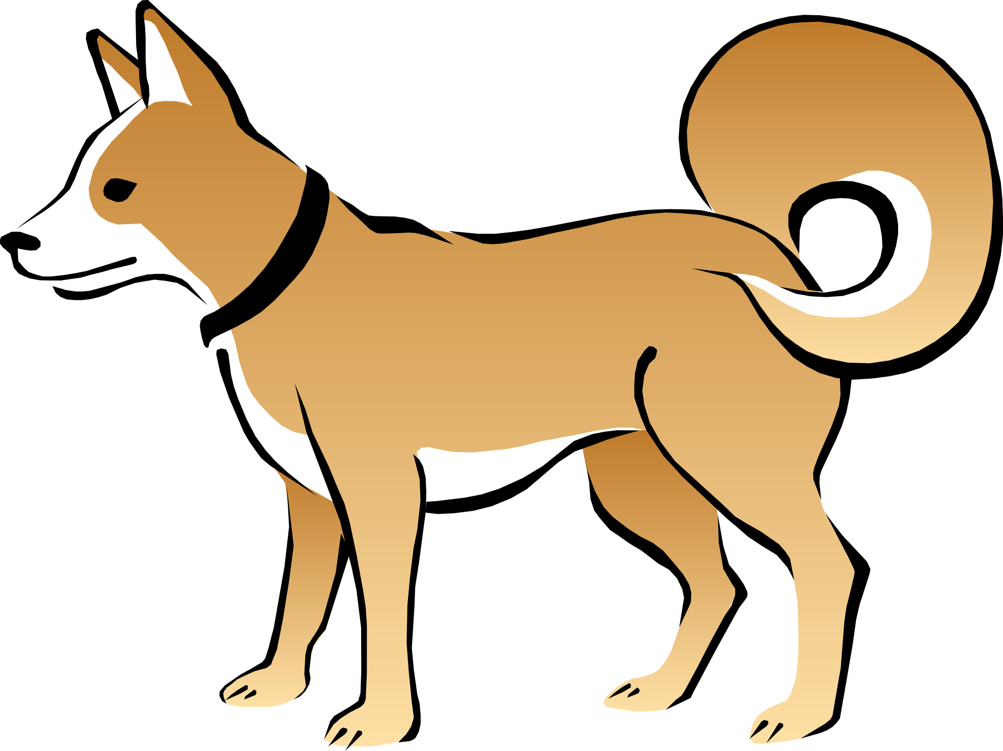 Clipart winter puppy. Cat and dog at