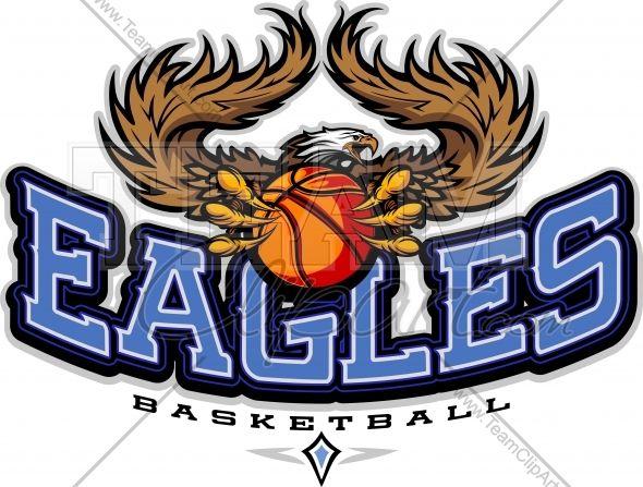 Eagles vector image sports. Eagle clipart basketball