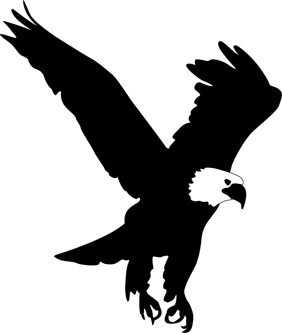 Wing clipart eagle. Silhouette at getdrawings com