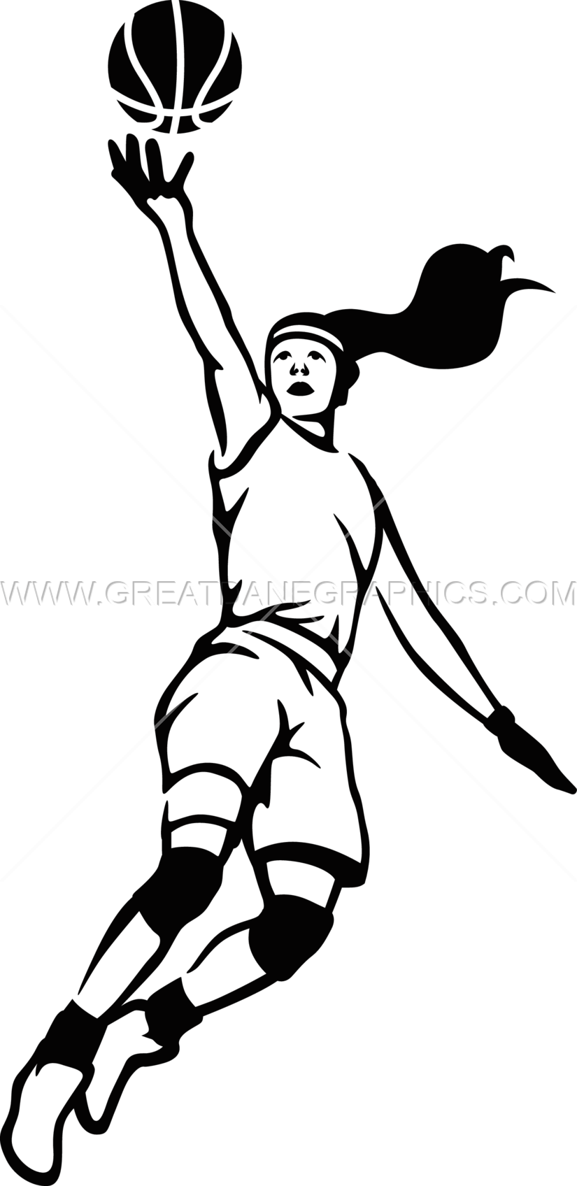 Lady clipart basketball player.  collection of layup