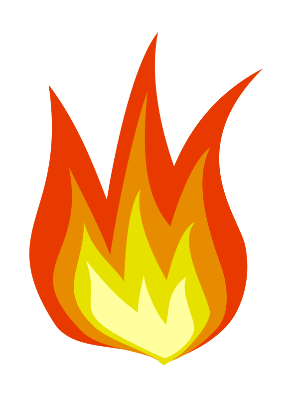 Cartoon fire with logs. Flames clipart powerpoint