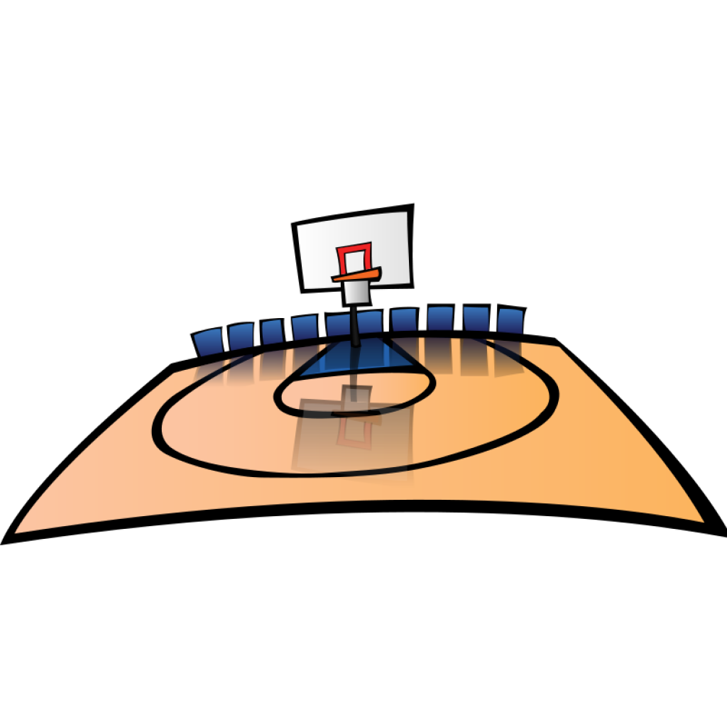 Free clipart basketball. Court thank you hatenylo