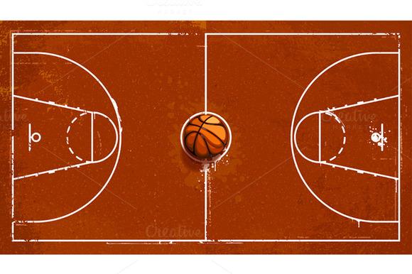 Cartoon court clip art. Clipart basketball ground