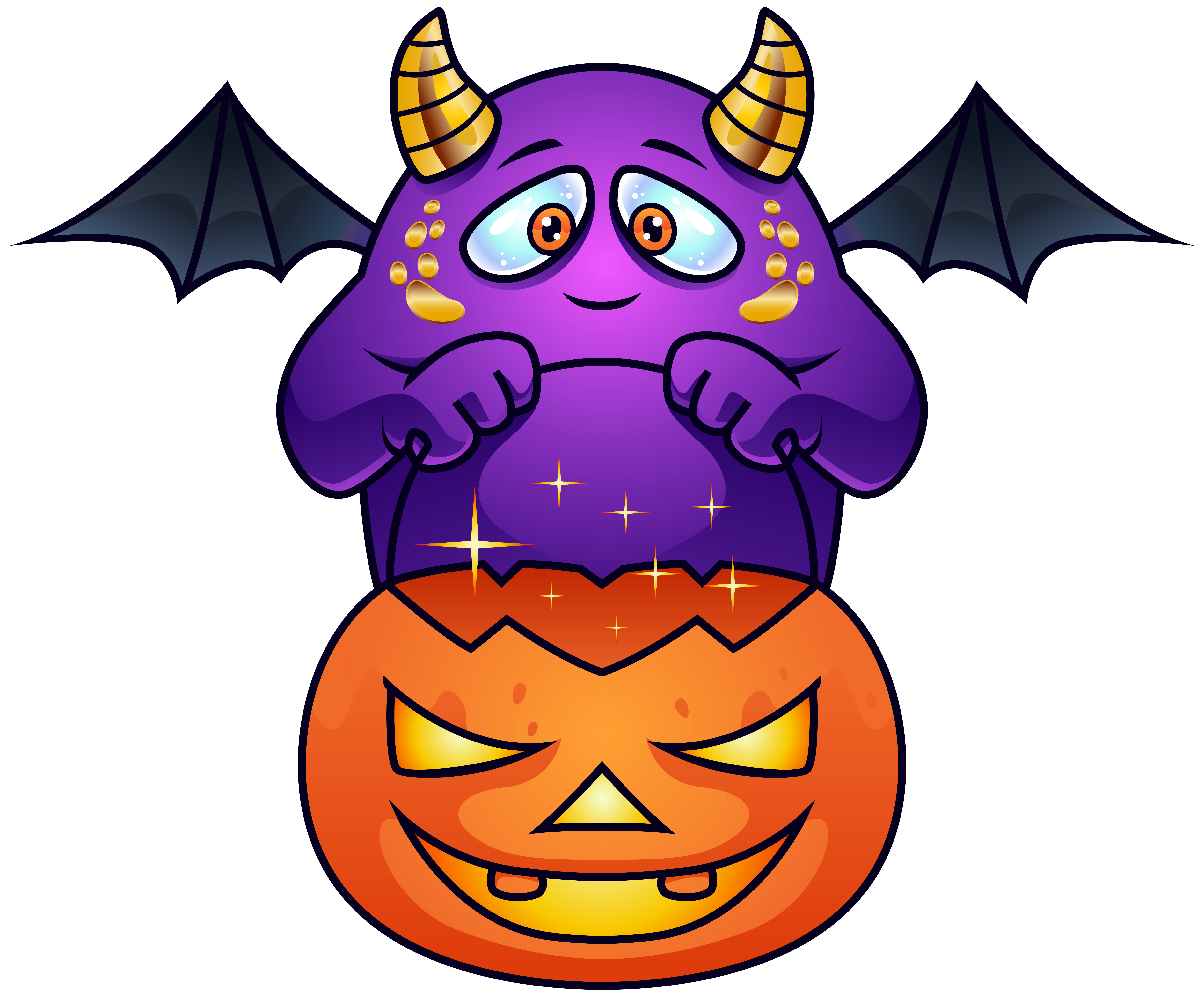 Clipart halloween purple. Best monster pictures png