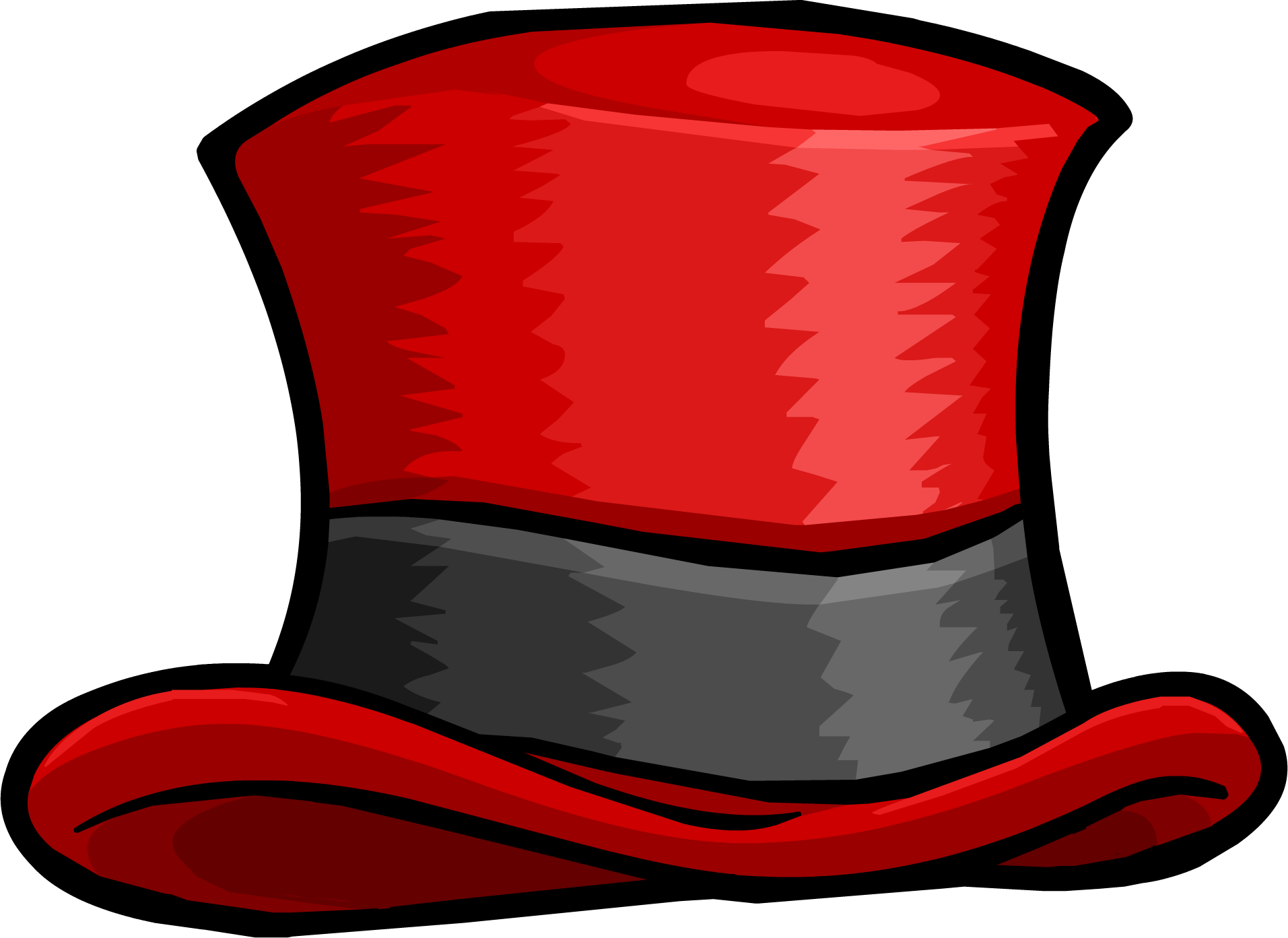 Pencil and in color. Clipart hat circus