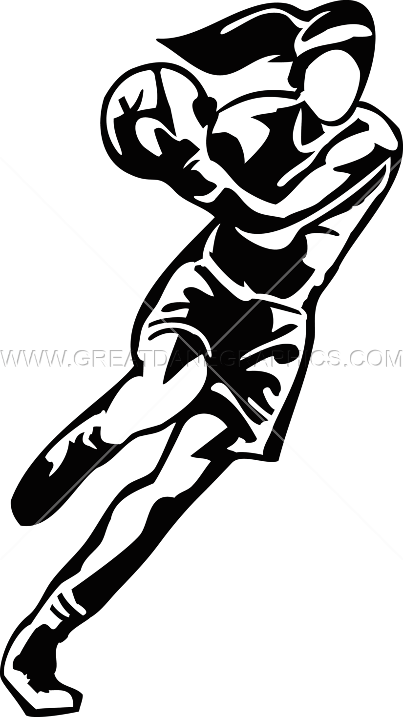 Volleyball clipart female volleyball player. Basketball production ready artwork