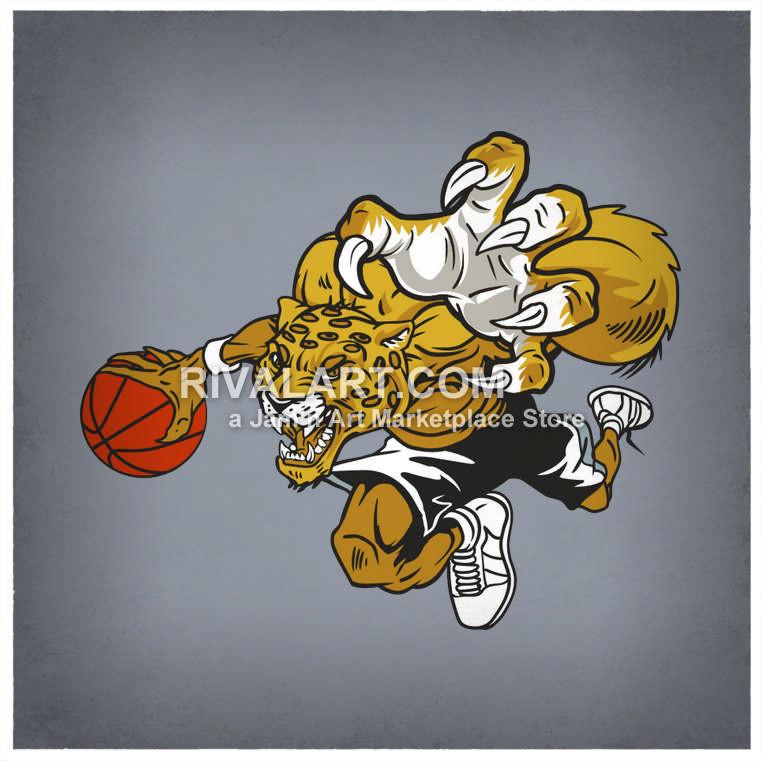 Dribbling a graphic . Clipart basketball jaguar
