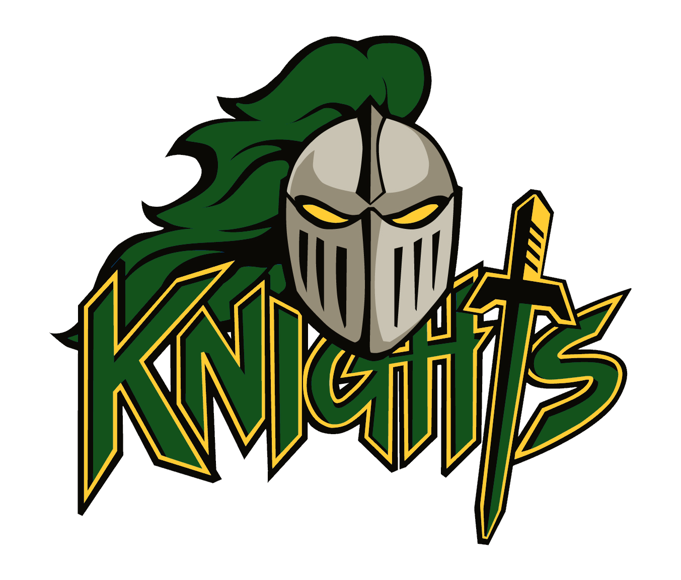 Knights clipart outline knight. North central team home