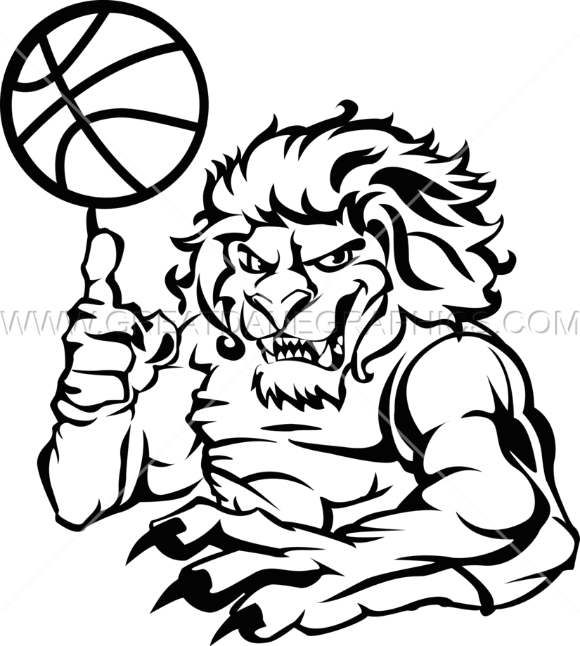 Clipart lion basketball. Line drawing at getdrawings
