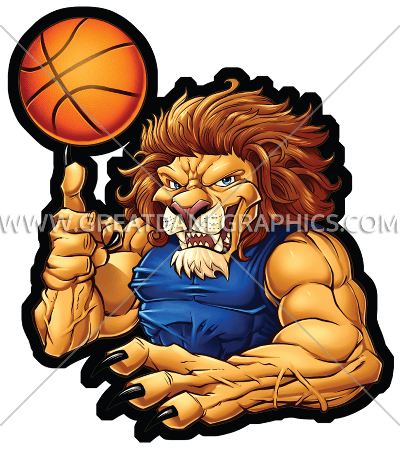 Production ready artwork for. Clipart lion basketball