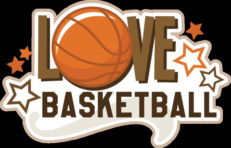 Love basketball svg title. Scrapbook clipart sport