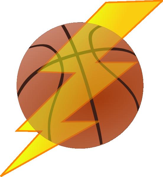 Lightning clipart clip art. Basketball with bolt at