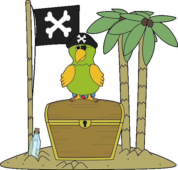 Pirate clip art images. Parrot clipart beach
