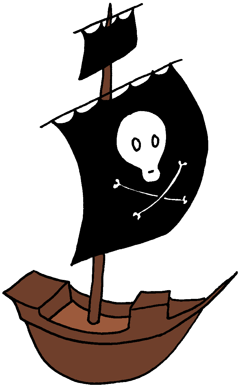 collection of pirate. Kids clipart boat