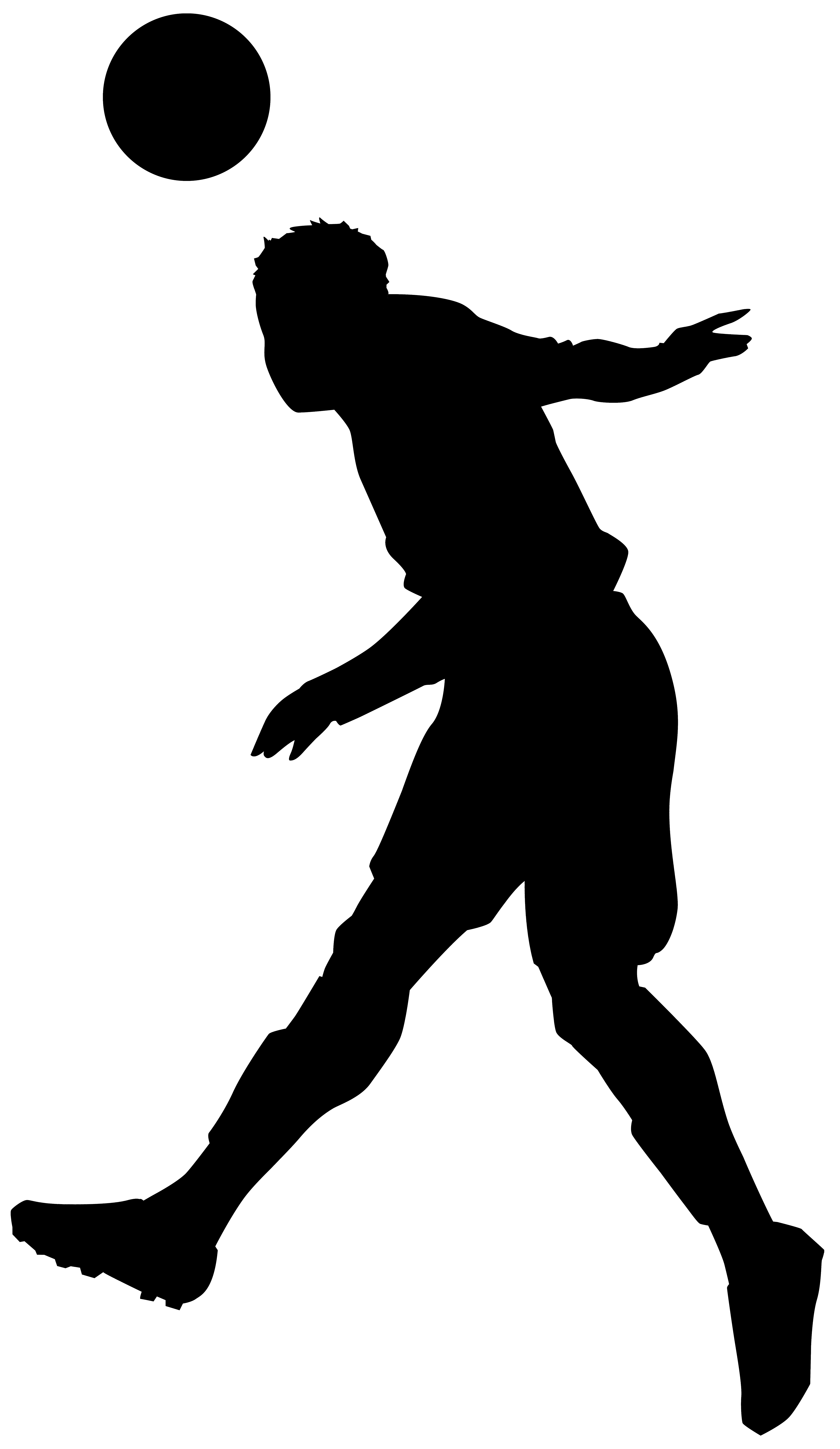 Footballer silhouette png clip. Teamwork clipart black and white