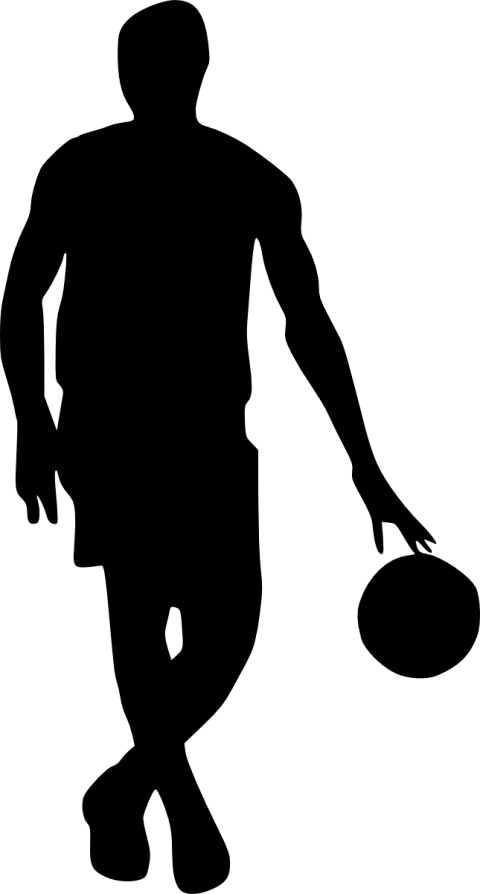 Basketball player silhouette toppng. Royalty free png images