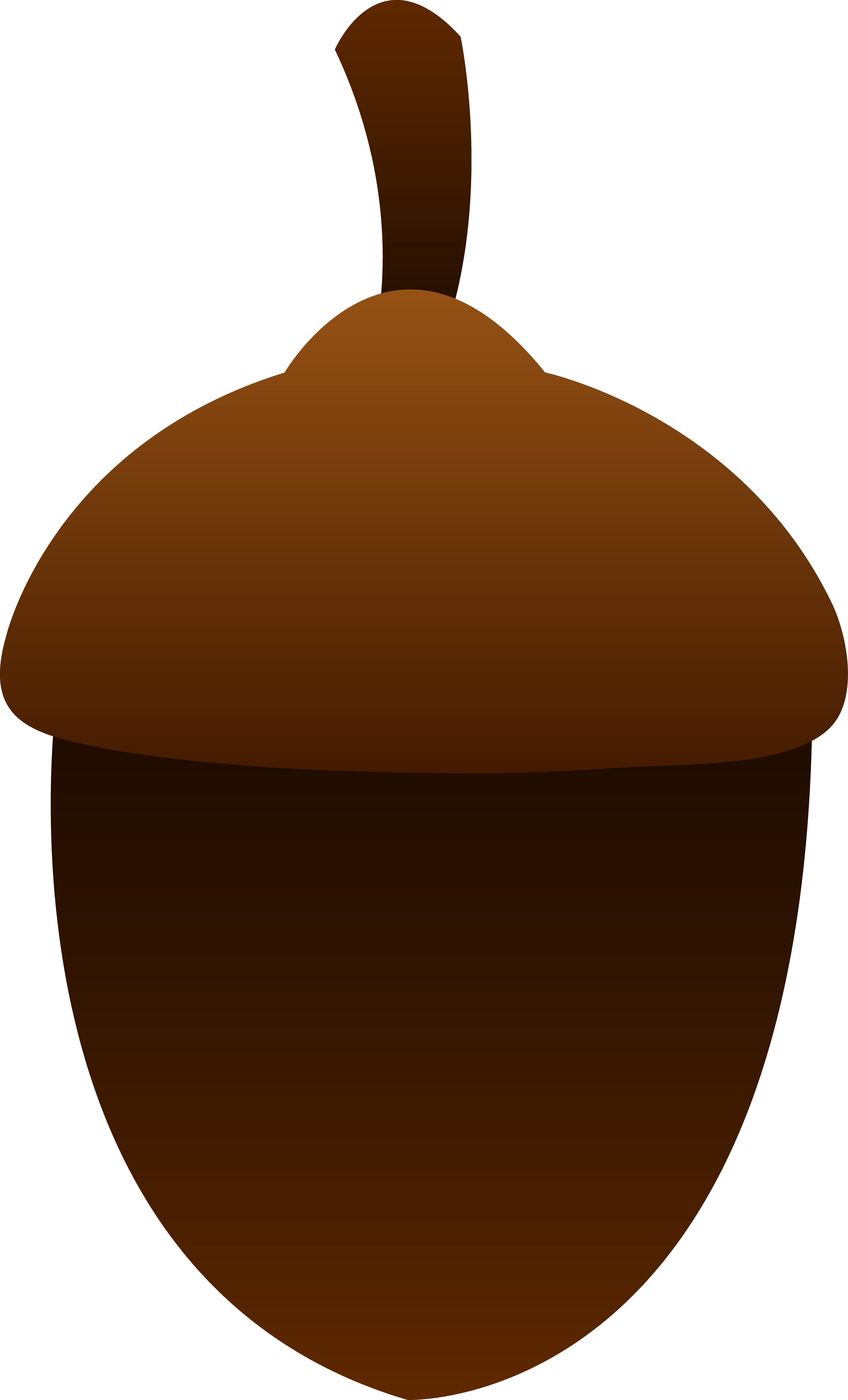 Acorn clipart simple