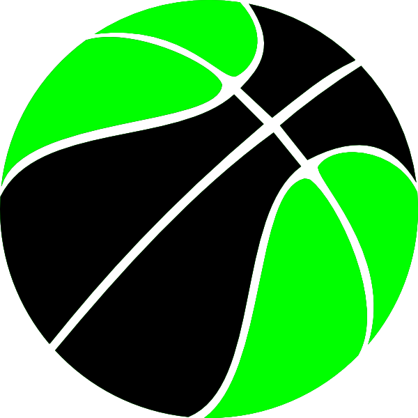 Turkeys clipart basketball. Green and black clip