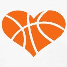 Hearts clipart basketball. Heart tattoos t shirt