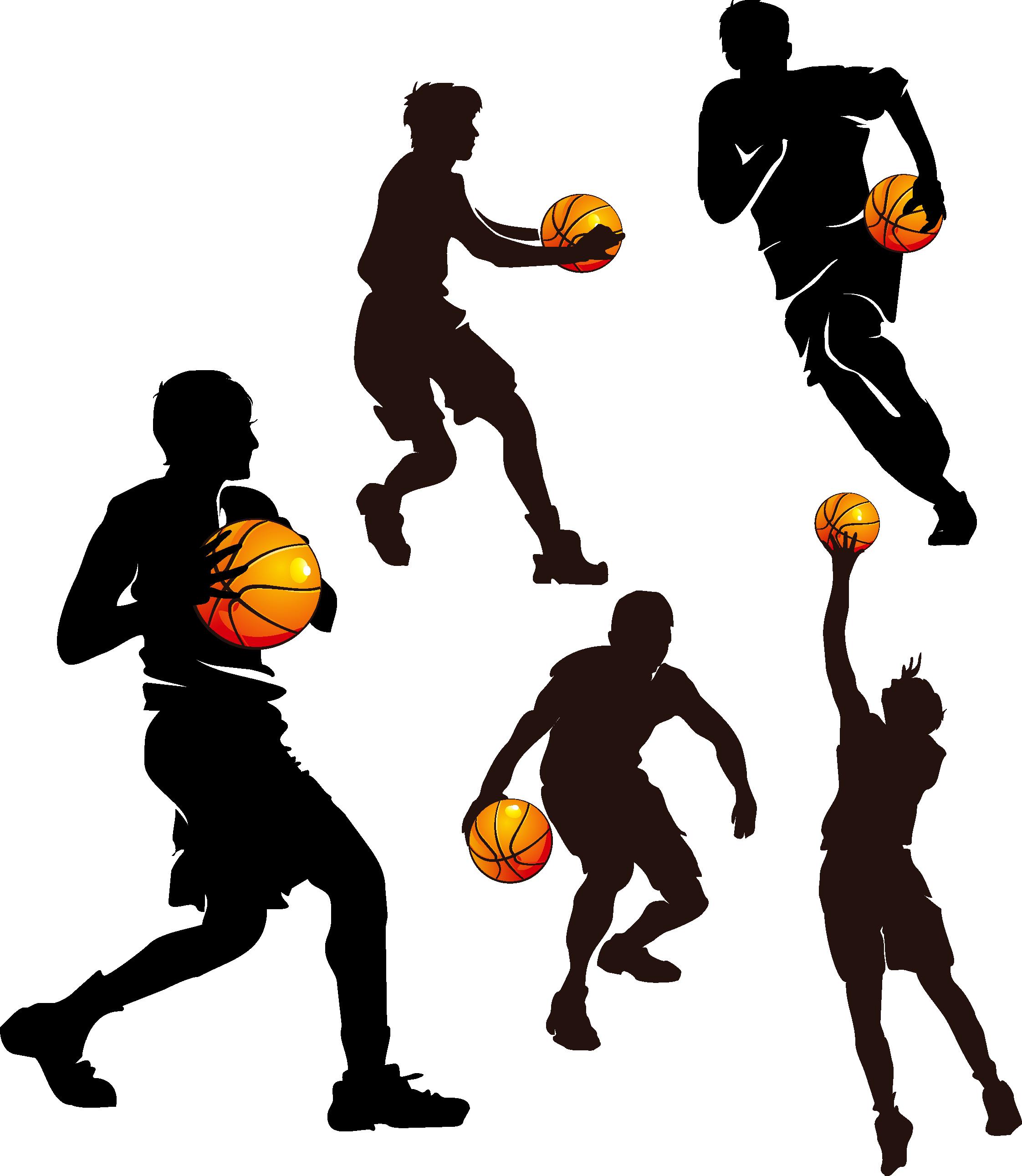 Silhouette team at getdrawings. Teamwork clipart basketball