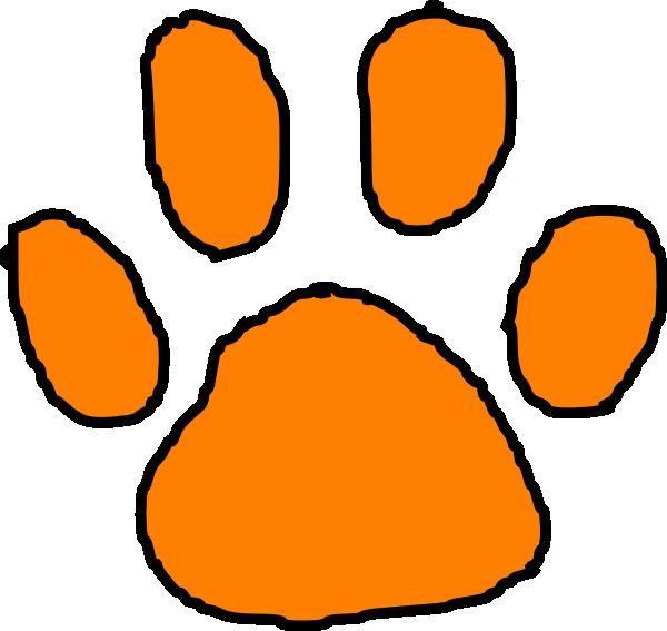 Paw print stencil best. Footprints clipart tiger